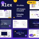 Alex Business Analyst Free Presentation by Slidecore