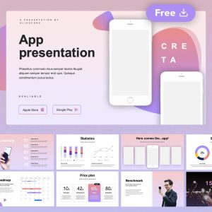 Creta Free App Presentation Template by Slidecore