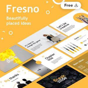 Fresno Plantilla de Presentación Creativa Gratis por Slidecore