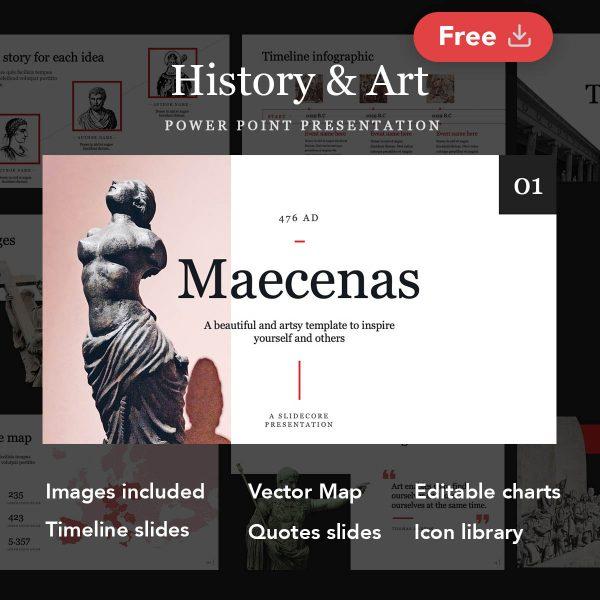 Maecenas Free History and Art Presentation by Slidecore