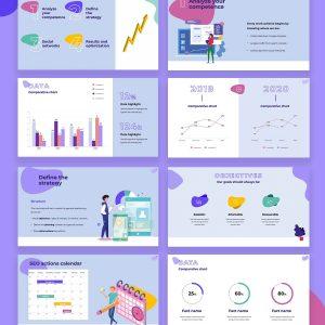 Pointer SEO Plan Strategy Free Presentation Template