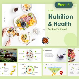 Venu Nutrition & Health Free Presentation Template