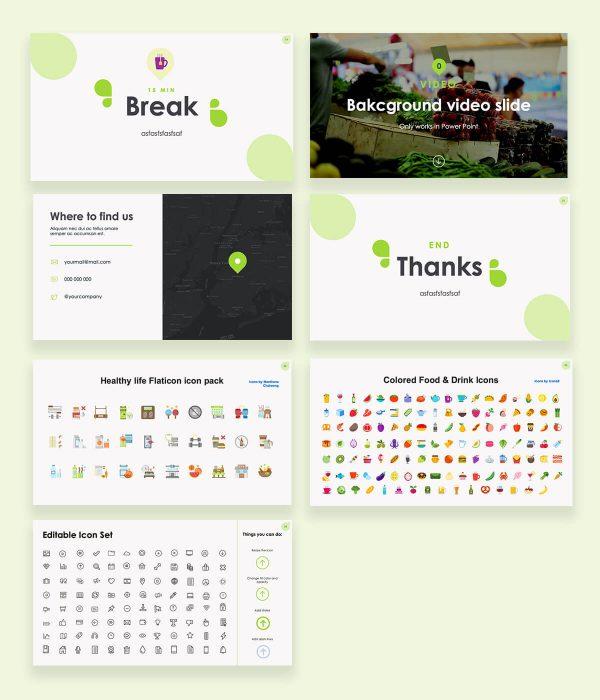Venu Nutrition & Health Free Presentation Template by Sidecore slideshow 3