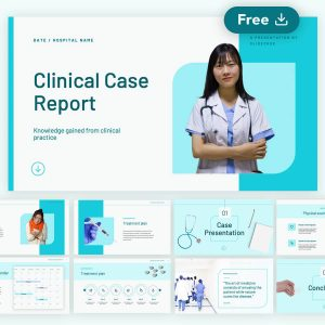 Helse - Clinical Case Report Presentation Free Template by Slidecore