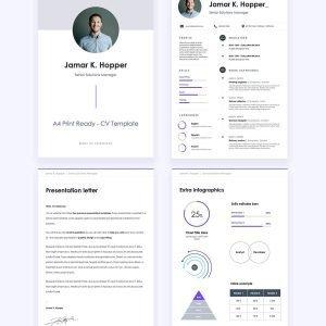 Line • Plantilla de CV Gratis Para Presentaciones