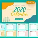 2020 Calendar Free Template for Powerpoint (PPT) and Google Slides