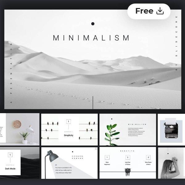 Livia Minimalism presentation template by Slidecore