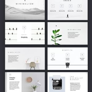 Plantilla de presentación de Livia Minimalism de Slidecore
