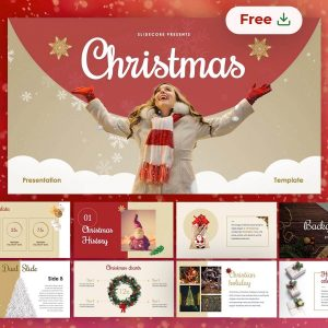 Christmas free presentation template slides by Slidecore