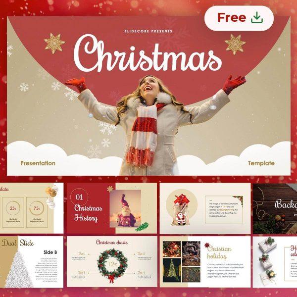 Christmas free presentation template slides by Slidecore