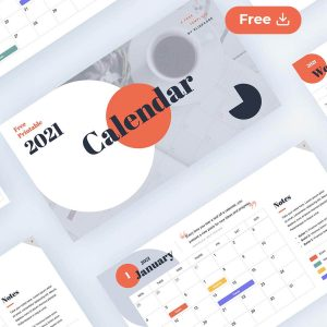2021 calendar and planner free template printable by Slidecore