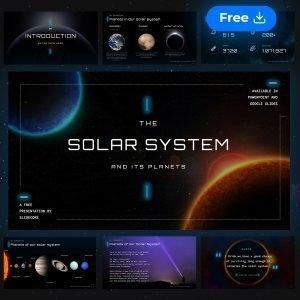 Plantilla de presentación gratuita sobre el Sistema Solar con animaciones por Slidecore
