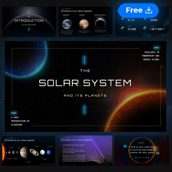 Solis Animated Solar System Free Presentation Template By Slidecore