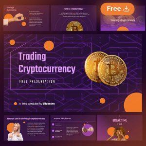 Node - Plantilla de presentación gratuita de trading y criptomonedas para Power Point PPT y Google Slides por Slidecore