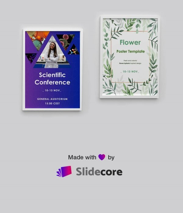 Modern Free Poster templates A3 A4 By Slidecore